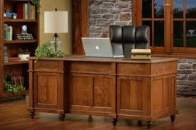 Compact home office desks Living Room Executive Desks Hashook Amish Desks Shop Solid Wood Desks On Countrysideamishfurniturecom