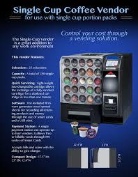 k cup vending machine. Fine Machine Single Cup Vendor Flyer Intended K Vending Machine S