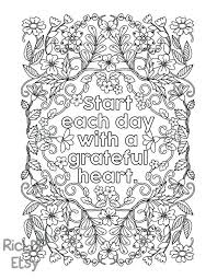 Thankful Coloring Pages 2 With The Message Start Each Day A Grateful