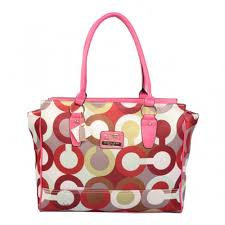 Coach Poppy Candace Carryall Large Pink Satchels ABG