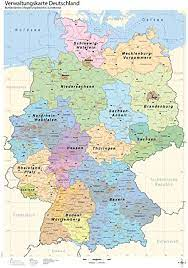 Check spelling or type a new query. B1 Verwaltungskarte Deutschland Bundeslander Regierungsbezirke Landkreise Amazon De Bucher