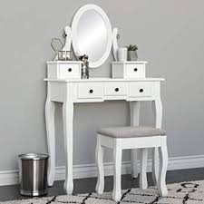 Amazon.com - Best Choice Products Vanity Dressing Table Set for ...