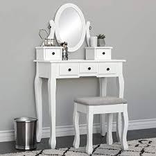 best choice s bedroom makeup cosmetic beauty vanity hair dressing table set w adjule oval