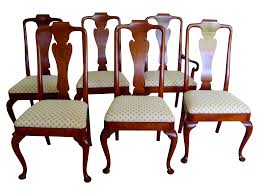 Queen Anne Style Dining Chairs by Baker Set of 6