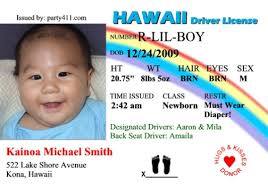 Personalized Drivers License Invitations And Birth Announcements