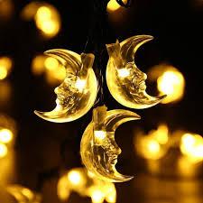 Fairy Lights Moon Amazon Com Eonlyx Solar Moon Lights Moon Fairy Lights 6m