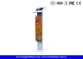 Where To Buy Display Stands Public Display Stands Anti Theft Ipad Kiosk Stand with Logo Panel 32