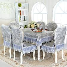 top grade european jacquard fl damask dining chair cover linen lace cushion home
