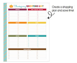 Thanksgiving Grocery List Template Clean Life And Home Freebie Printable Thanksgiving
