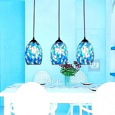 blue ceiling lamp pale shades cobalt pendant light shade bell drum a innovative blue pendant lights