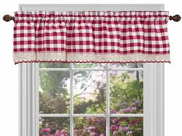 Red Curtains For Kitchen Red Plaid Kitchen Curtains Cliff Kitchen