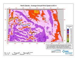 Download Free North Dakota 80 Meter Wind Energy Maps Charts
