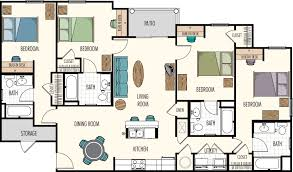 4 bedroom floor plan. 4 Bedrooms/ Bathrooms Bedroom Floor Plan