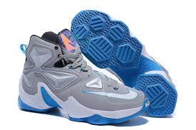 lebron james shoes blue. mens nike lebron james 13 nba shoes blue grey l
