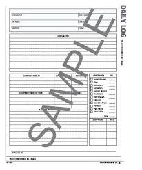 Printable Mileage Log Template Contractors Daily Book For Resume ...
