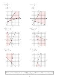 algebra graphing worksheets algebra 2 assignment answer key fresh solving systems of equations by graphing worksheet