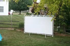 medium size of outdoor rear projection screen diy backyard projector material al nashville frame best
