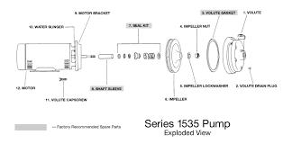 bell gossett 168021 series 1535 1 3 hp cast iron centrifugal pump bell gossett series 1535 exploded view parts diagram