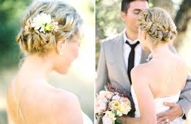Chignon Mariage Fleur Naturelle Dans Coiffure De Mariée