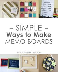 Cute Memo Boards Unique Simple DIY Memo Board Ideas Rosyscription