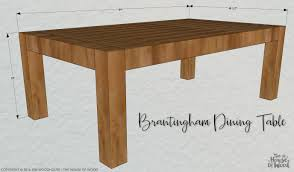 how to build a diy chunky modern dining table free plans