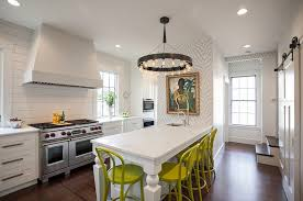 wallpaper gorgeous kitchen lighting ideas modern. View In Gallery Thibaut Wallpaper Adds Pattern To The Kitchen [Design: New England Design Works] Gorgeous Lighting Ideas Modern R