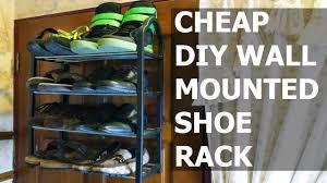 Wall Shoe Rack Diy Wall Mounted Shoe Rack Youtube
