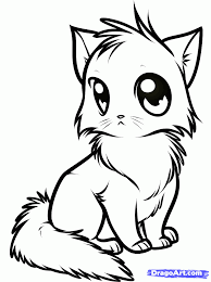 Draw A Cute Anime Cat Step By Step Drawing Sheets Added By Dawn