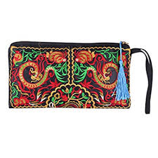 Sanwood <b>Women's Retro Ethnic</b> Embroider Purse Wallet Phone Bag ...