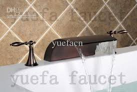 2019 deck mounted oil rubbed bronze waterfall bathtub faucet 3 8001r 3 from yuefacn 113 97 dhgate com