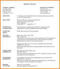 Curriculum Vitae Examples For Undergraduates Dtk Templates