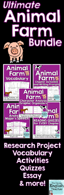 this animal farm teaching bundle includes everything you need to this animal farm teaching bundle includes everything you need to teach george orwell s animal farm