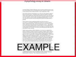 a psychology essay on dreams homework help a psychology essay on dreams on psychology dreams research papers essay title length narrative essay