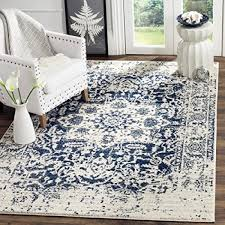 safavieh madison collection mad603d cream and navy area rug 3 x 5 intl