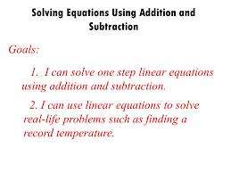 3 solving equations using