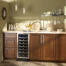 Integrated Wine Cabinet Danby Silhouette 34 Bottle Built In Wine Cooler Dwc1534bls The