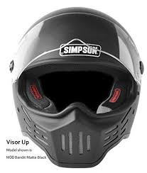 Amazon Com Simpson M30 Bandit Dot Satin Carbon Fiber