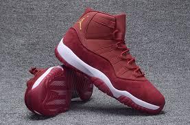 jordan shoes 11 velvet. 2016 jordan 11 velvet retro wine red gold shoes