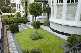 front gardens white pebbles and on