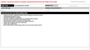 Courtesy Booth Cashier Job Descriptions Careers Job Descriptions