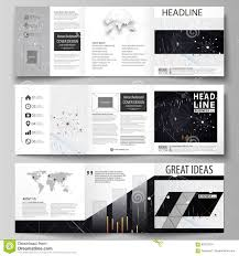 Business Templates For Tri Fold Square Design Brochures