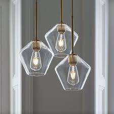 small glass chandelier shades sculptural 3 light