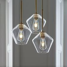 small glass chandelier shades sculptural 3 light