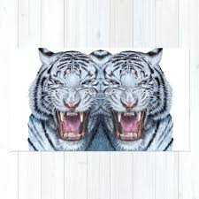 double white tiger rug for white tiger vector rug faux