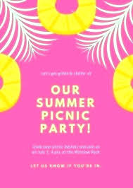Free Office Picnic Invitation Template Printable Templates