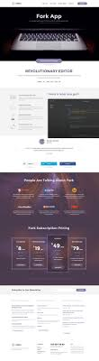 Forkio Free One Page Website Template Uxfree Com