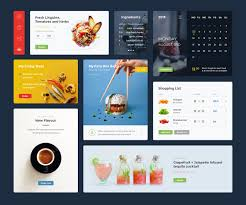 Food Drink Ui Kit Psd Sketch On Behance