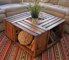how to make a coffee table from wine crates coffee table makeover ideas
