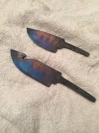 Knife Tempering Color Chart Tempering 1095 Blades To Blue Heat Treating Knives Blades