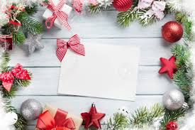 Blank Christmas Background Christmas Background With Fir Tree And Decor On Wooden Table